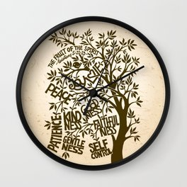Fruit of the Spirit (Monotone) Wall Clock