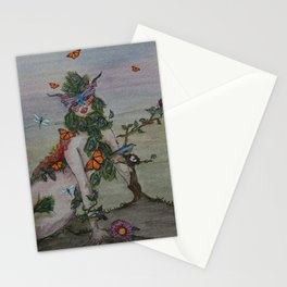 Woman Nature Stationery Cards
