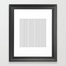 Pinstripes Framed Art Print
