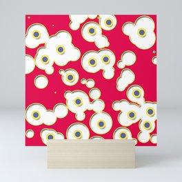 Bevelled circles Mini Art Print