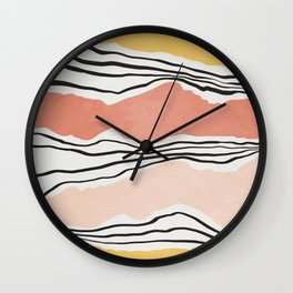 Modern irregular Stripes 01 Wall Clock