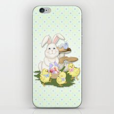 White Rabbit and Easter Friends iPhone & iPod Skin