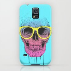 Pop art skull with glasses Slim Case Galaxy S5