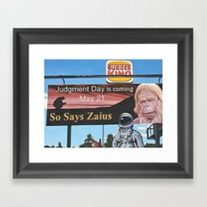 So Says Zaius Framed Art Print