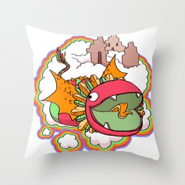 Quetzalcoatl Throw Pillow