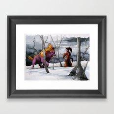 BEAST AND BEAUTIFUL Framed Art Print