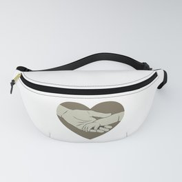 Father and Child Love New Dad Holding Baby's Hand Father's Day Fanny Pack