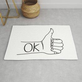 Thumbs Up, Ok Rug
