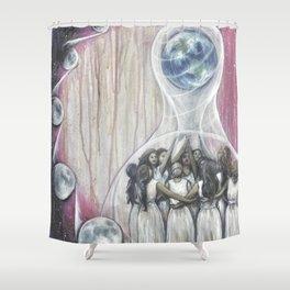 Sister Circle // Women Goddess Moon Earth Circle Energy Healing Wemoon Witch Wise Feminist Feminism Shower Curtain
