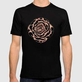 Elegant romantic rose gold roses pattern image T-shirt