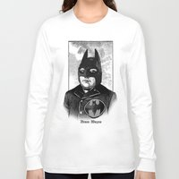 bat man Long Sleeve T-shirts featuring BAT MAN by DIVIDUS DESIGN STUDIO