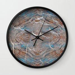 Vortex blue geometry V Wall Clock