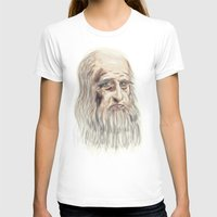 da vinci T-shirts featuring Leonardo da Vinci Colorful by André Minored
