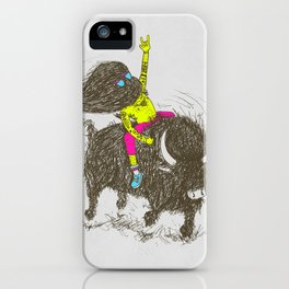 Ride a buffalo iPhone Case