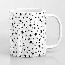 Mini Stars - Black on White Coffee Mug
