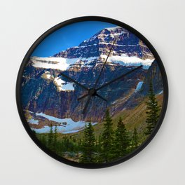 Mt. Edith Cavell in Jasper National Park, Canada Wall Clock