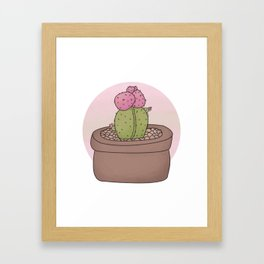 Moon Cactus Guardians Framed Art Print