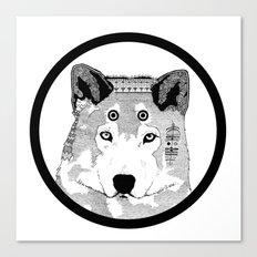Hippie Wolf Canvas Print