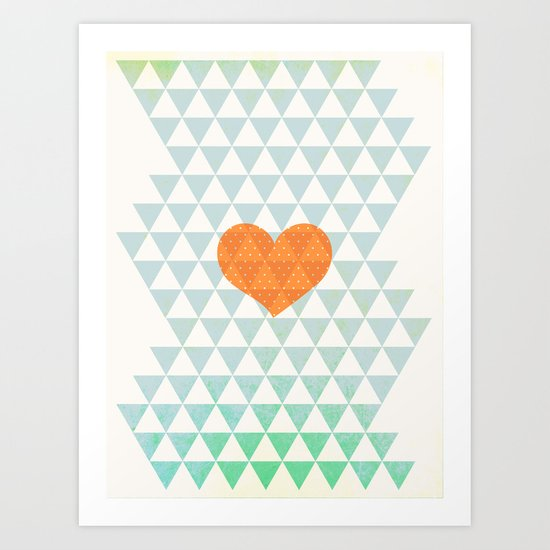 Crazy about Love Art Print