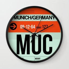 MUC Munich Luggage Tag 2 Wall Clock