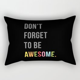 Be Awesome 2 Funny Quote Rectangular Pillow