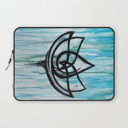 Lotus in the Rain I Laptop Sleeve
