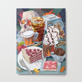 Still life with added sugars Metal Print
