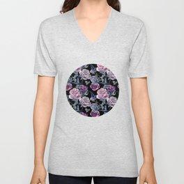 Dark flowers Unisex V-Neck
