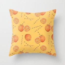 orange juice _ light Throw Pillow