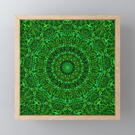Green Spiritual Mandala Garden Framed Mini Art Print