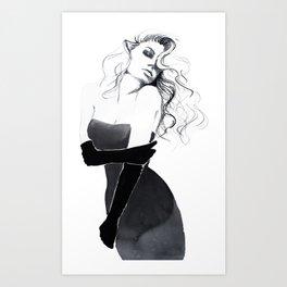 'Gloves'  Illustration Art Print