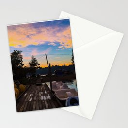 Lake Pemaquid Campground in Damariscotta, Maine Stationery Cards