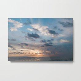 Puerto Escondido Sunset Metal Print