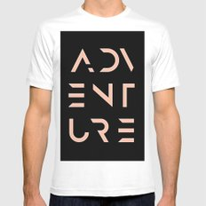 Adventure Mens Fitted Tee White LARGE