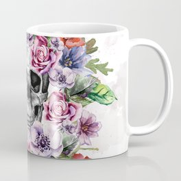 Skull & Flower Coffee Mug