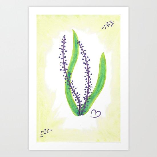 Tiny Purple Plant Art Print