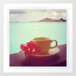 Tropical Coffee Art Print