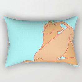 Minimal Tan Lines Rectangular Pillow