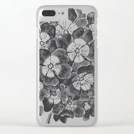 Vintage Flowers Bouquet Clear iPhone Case