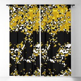 Geometric Mustard Yellow Skull Composed Of Triangles Blackout Curtain