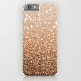Copper Shiny Powder Texure iPhone Case