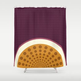 Passion Fruit Tech Shower Curtain