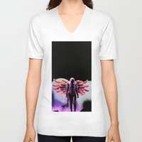 artrave V-neck T-shirts featuring LG - artRAVE by Illuminany