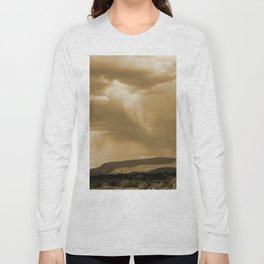 Rain's Coming in Sepia Long Sleeve T-shirt