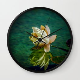 Water Lily after rain Wall Clock