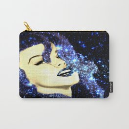 Baby, You're A Star : Navy Blue Galaxy Carry-All Pouch