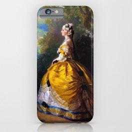 Eugénie de Montijo, oil on canvas by Franz Winterhalter iPhone Case