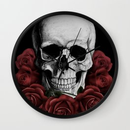 BOUQUET OF DEATH Wall Clock