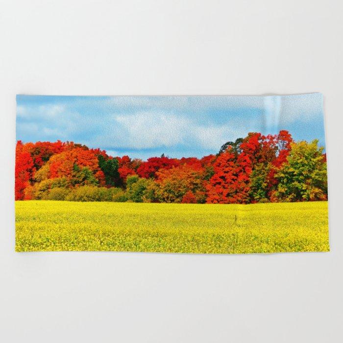 Fall Foliage Overload Beach Towel