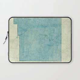 New Mexico State Map Blue Vintage Laptop Sleeve
